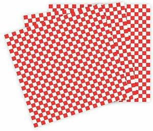 Red Checkered Deli Wrap Paper Food Vending Restaurants 12 l X 12 w 3000 Ct
