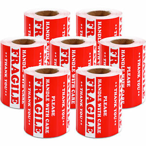 3500 Pieces 3 X 5 Handle With Care Fragile Label Sticker Self Adhesive Warning