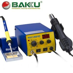 Baku Bk 601d 110v Smd Brushless Heat Gun Soldering Iron Station With Stand 700w
