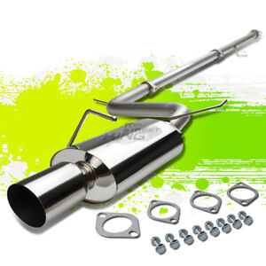 4 Tip Muffler Stainless Steel Catback Exhaust Pipe For 06 08 Eclipse 4g 3 8 6g75