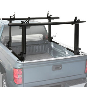 450 Lbs Black Two Bar Pickup Bed Mouting Ladder Kayak canoe Utility Rack Carrier