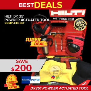 Hilti Dx 351 Powder actuated Tool Brand New Free Mug Extras Fast Shipping