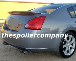 Un Painted Rear Spoiler For 2004 2008 Nissan Maxima 4dr W 3rd Led Brake Light