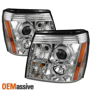 Fits 2002 2006 Cadillac Escalade Halo Projector Headlights Drl Led Left Right