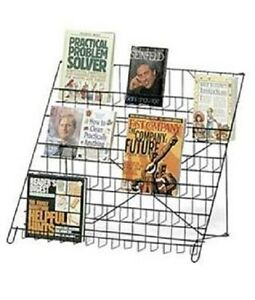 Black Wire Rack Literature Display 6 tier Countertop Brochure Books Dvd Cd