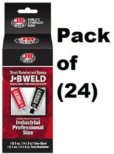 24 Ea J b Weld 8280 2 X 5 Oz Industrial Reinforced Cold Weld Epoxy Compound