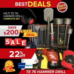 Hilti Te 76 Hammer Drill Preowned Free Knife Bits Extras Quick Shipping