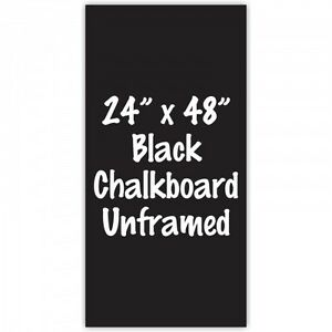 Frameless 24 X 48 Black Chalkboard Menu Board Sign Made In Usa
