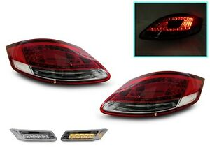 05 08 Porsche Boxster Cayman 987 Led Red Cleartail Lights Amber Led Side Marker