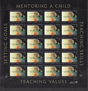 3556 CHILD amp; MENTOR NH SHEET OF 20 SPECIAL SALE @ FACE $6.80