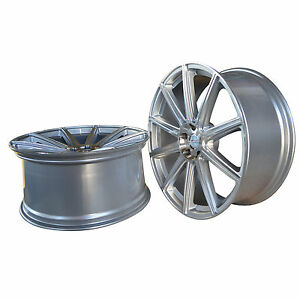 4 Gwg Wheels 22 Inch Stagg Silver Rims Mod Rims Fits Ford Shelby Gt 500 2007 17