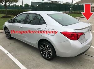 Un Painted Factory Look Rear Lip Spoiler For 2014 2019 Toyota Corolla No Drill