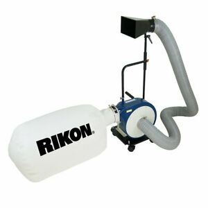 Rikon 60 105 230 volt 1 hp Heavy Duty Powerful Portable Mount Dust Collector