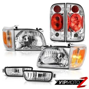 For 01 04 Toyota Tacoma 4wd Clear Chrome Taillights Headlights Bumper Assembly