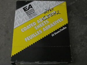 24 New Ea Abrasives Klingspor 9 X 11 Emery Sheets Sandpaper Coarse 10033