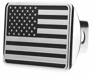 Usa Us American Flag Stainless Steel Trailer Hitch Cover fits 2 Receivers