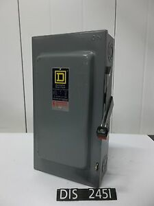 Square D Hu363 600 Volt 100 Amp Non Fused Disconnect Safety Switch dis2451