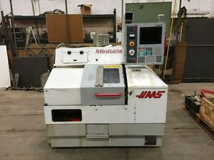 Haas Mini Lathe Gang Style Cnc Lathe With Haas Servo 300 Bar Feed
