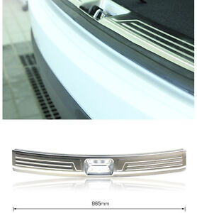 Rear Bumper Moulding Trunk Metal Cover For 2012 2013 2014 Hyundai Tucson Ix35