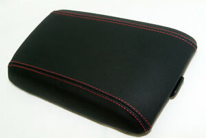 Center Console Armrest Leather Synthetic Cover For Pontiac Gto 04 06 Red Stitch