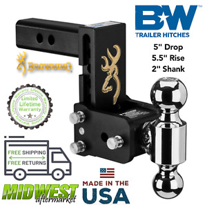 B W Class Iv Tow Stow Dual Trailer Hitch 5 Drop For 2 Receivers 10000 Gtw