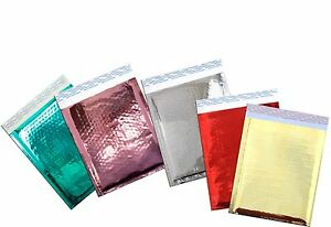 6 X10 Red pink gold silver teal Mirrored Foil Bubble Shipping Mailer 50pack