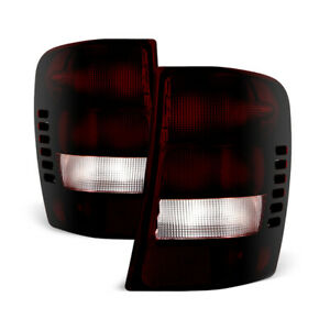 rosso Red Smoke For 99 04 Jeep Grand Cherokee factory Style Tail Lights Lamp