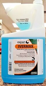 Ivermax Pour On 1l 1000ml Lice Worms Cows Calves Cattle Wormer