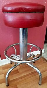 Vintage Chrome Bar Stools Set Of Two