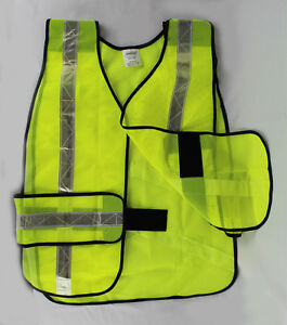 Lot Of 2 Or 6 Reflective Safety Vest Yellow Construction Traffic