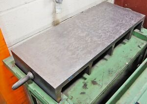 Precision 12 1 2 X 30 X 4 1 8 Cast Iron Surface Plate Hand Scraped Fixture