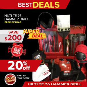 Hilti Te 76 Hammer Drill Preowned Free Thermo Bits Extras Quick Shipping