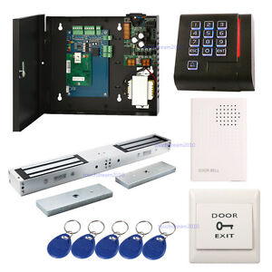 Single Door Entry Access Systems Kits Double Door 600lbs Electric Magnetic Lock