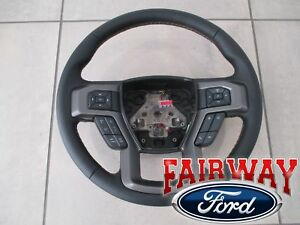 15 Thru 17 F 150 Oem Ford Black W Tan Stitching Sync Cruise Steering Wheel New