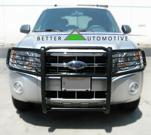 Grill Bumper Brush Guard Blk For 2007 2014 Chevy Tahoe 1500 2007 2012 Avalanche