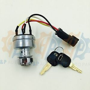 142 8858 New Ignition Switch With 2keys Fits Caterpillar 257b Cat D6t 247b D6r