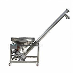 Height All fill Sanitary Inclined Portable Screw Conveyor Powder Feeder Hzsl b
