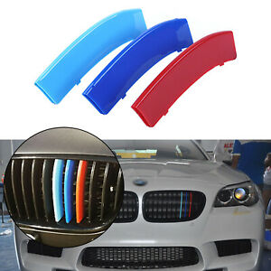 Strips Front Kidney Grille Insert Trims Fit Bmw 5 Series M Sport F10 F11 2010 Up
