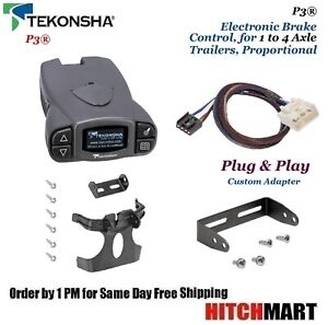 P3 Trailer Brake Control W Adapter For 2015 2017 Tundra 2016 2017 Tacoma 90195