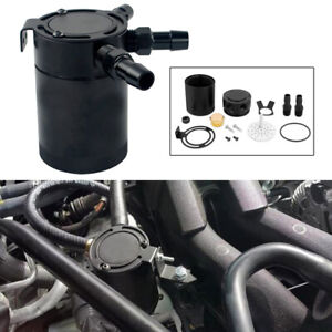 New Racing Baffled 3 Port Oil Catch Can Tank Air Oil Separator