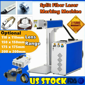20w Fiber Laser Marking Engraving Machine Metal Engraver With Ratory Axis