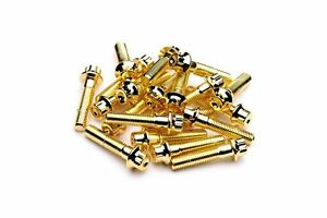 160x Gold Split Rim Assembly Bolts M7 X 32mm Bbs Rs Oz Wheels High Tensile Screw
