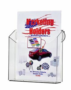 8 5 X 11 Wall Mount Literature Holder Magazine Display With Suction Cups