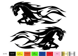 Tribal Flame 2 Decal Stickers Right Left Direction Car Truck Window Choose Color