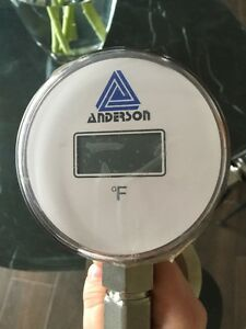 New Anderson Digital Thermometer 3 Tri clamp Back Mount Connection