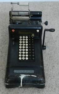 Vintage Burroughs Mechanical Used Adding Machine Class 3 Number 3 862299