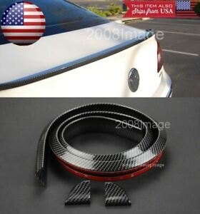 Roof Trunk Windshield Glossy Carbon Fiber Spoiler Wing Diffuser Lip For Ford