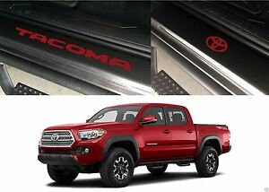 Front Rear Barcelona Red Door Sill Vinyl Inserts 2016 2019 Toyota Tacoma New