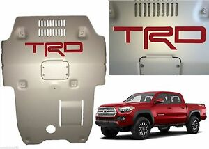 Barcelona Red Vinyl Trd Skid Plate Inserts For 2016 2019 Toyota Tacoma New Usa