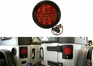 1 4 Round Led Stop Turn Tail Light Kit With Red Lens New Free Shipping